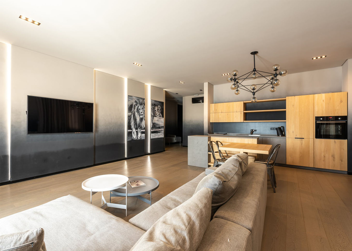 Home automation features in a townhome.