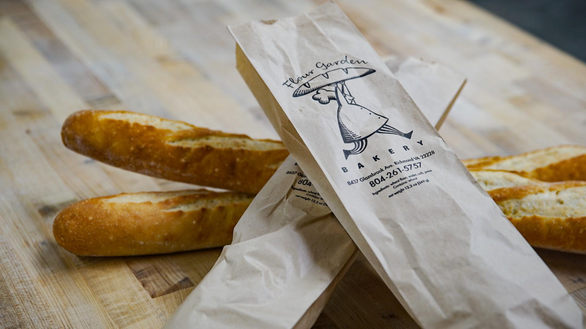 Flour garden bakery bakes artisanal breads.